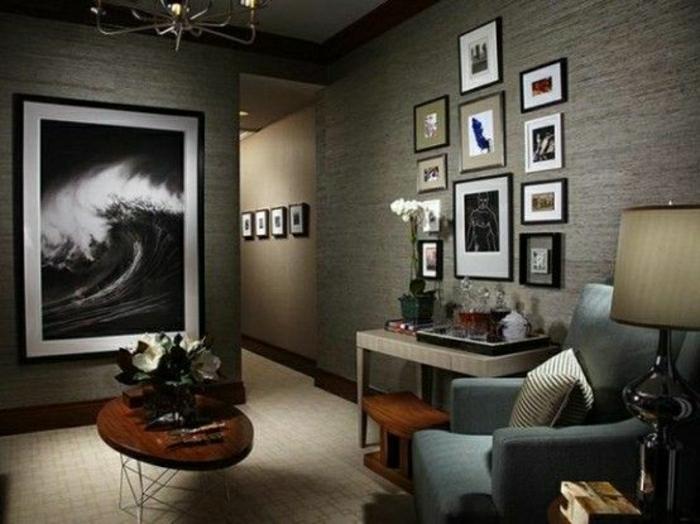 Wohnzimmer-Wandgestaltung-männliches-Design