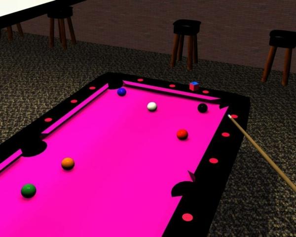 attraktiver-Spieltisch-rosa-Spielfläche-Bälle