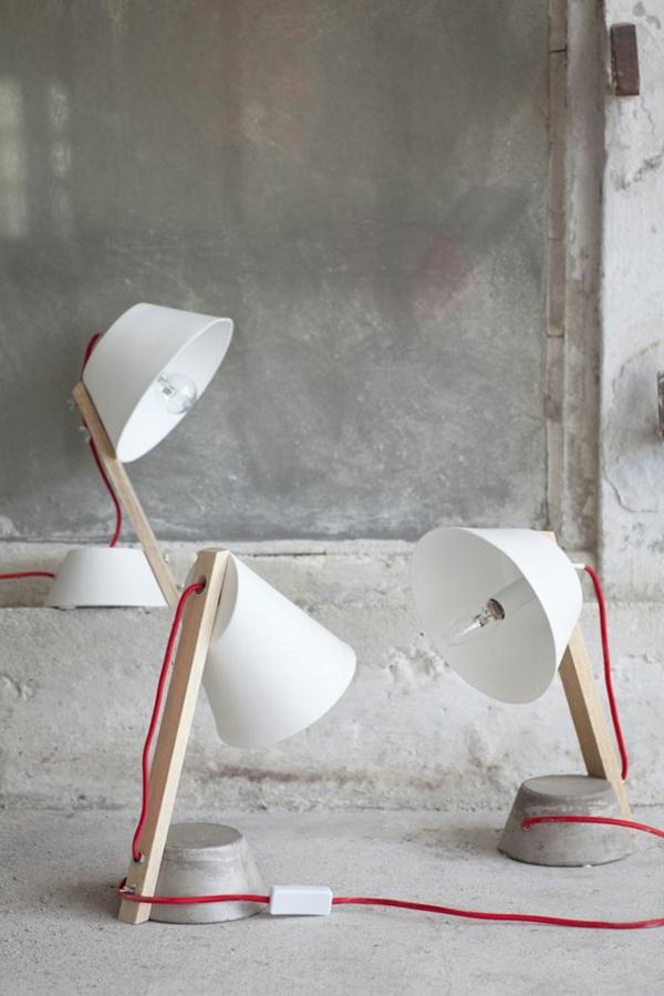 ausgefallene-lampen-coole-ausstattung - graue wand