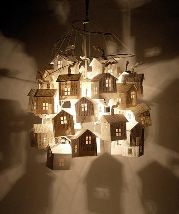 ausgefallene-lampen-kreativ-und-schön-aussehen - papierhäuser