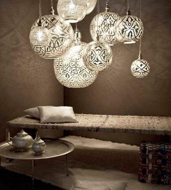 ausgefallene-lampen-luxuriöse-gestaltung- beige farbschemen