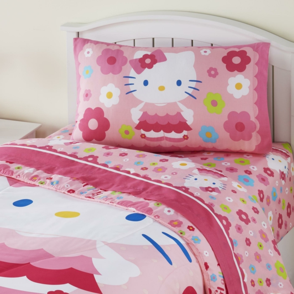 baby-bettwäsche-rosa-bettwäsche-kinder-bettwäsche-schöne-bettwäsche-baby-bettwäsche-set-hello-kitty-bettwäsche