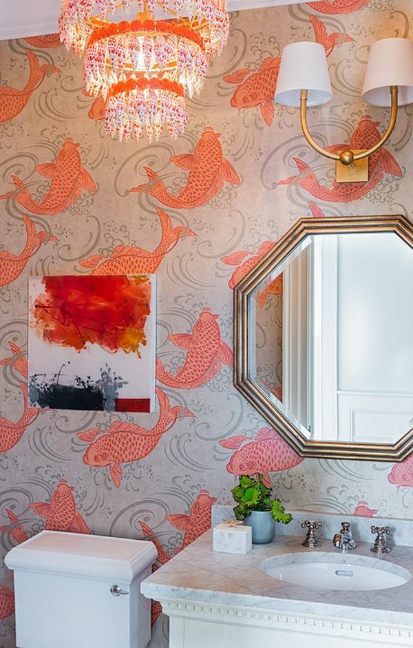 badezimmer-gestalten-design-tapeten-ideen-designer-tapeten-mit-fischen-tapeten-design