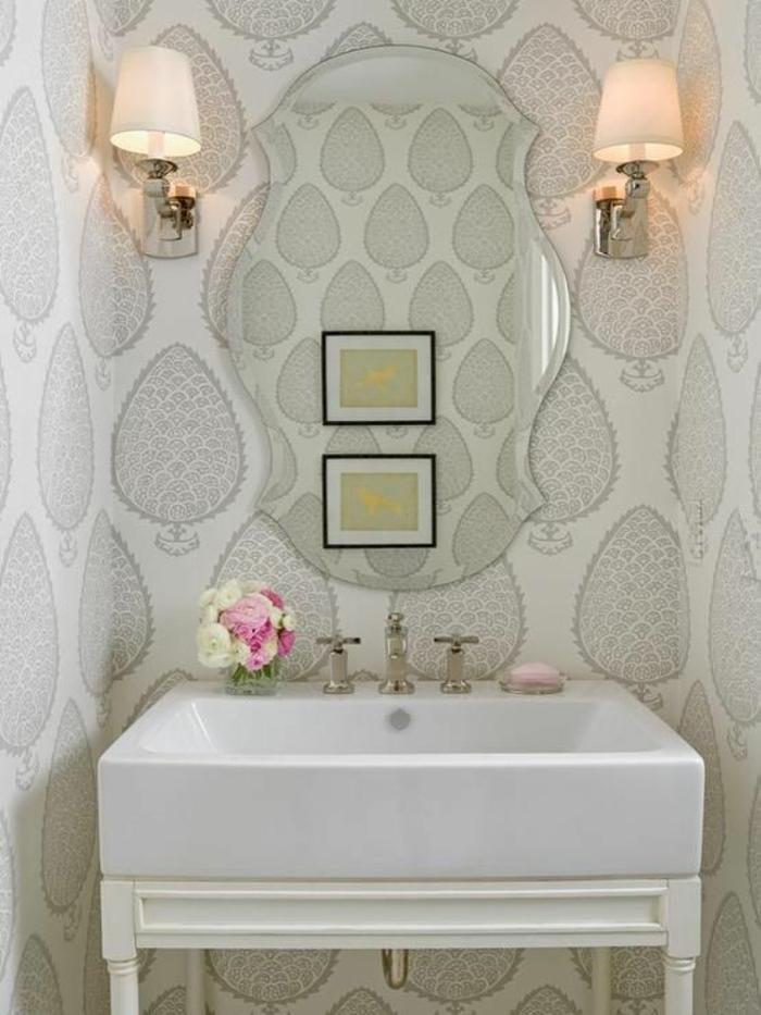 Kreative Wandgestaltung Mit Tapeten : -ideen-badezimmer-gestalten-wandgestaltung-badezimmer-wandgestaltung