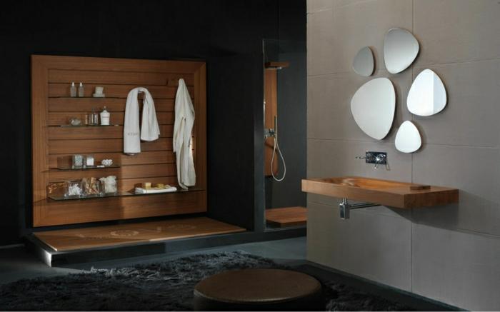 schöne wohnzimmer uhren: -wandgestaltung-holz-schöne-wände-wohnzimmer-wandgestaltung