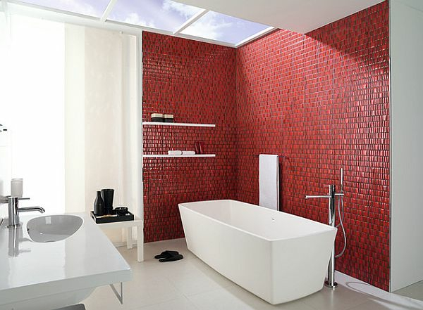 Rote Wand - 50 Ideen mit Wandfarbe Rot ! - Archzine.net
