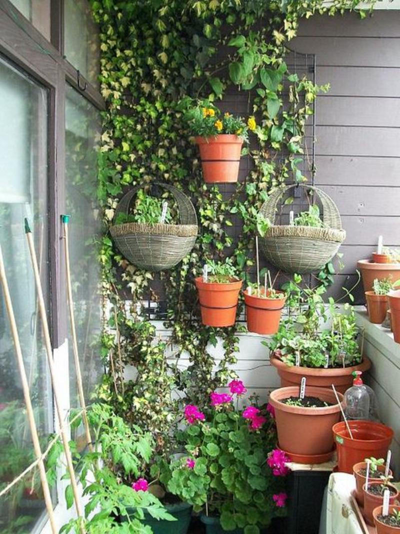 balkon-bepflanzen-blumentöpfe-die-hängen