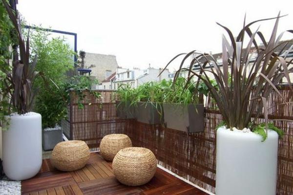 Kleiner bambus fr den balkon: den balkon gestalten einfache ...