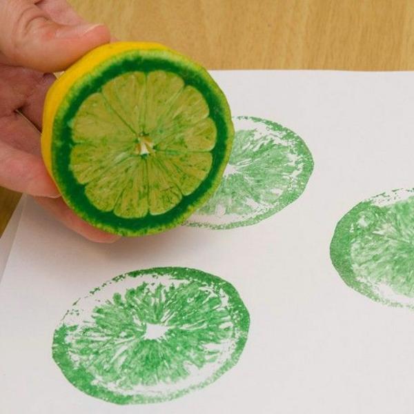 basteln sommer mit kindern im zitrone gra 1 4 ne farbe papier