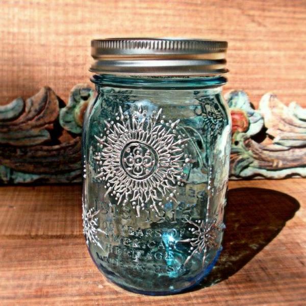 blaue-Einweckglas-Laterne-silberner-Henna-Muster
