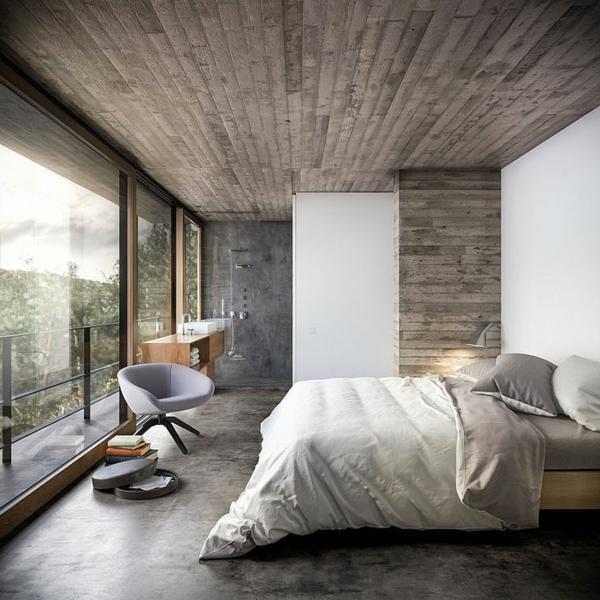 bodentiefe-fenster-im-gemütlichen-schlafzimmer - elegantes aussehen