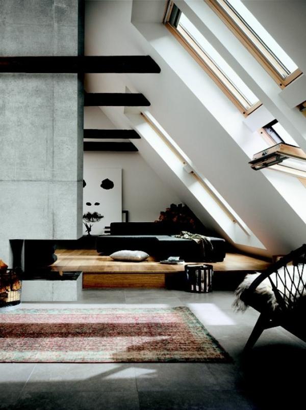 bodentiefe-fenster-interessante-dachwohnung in weißer farbe