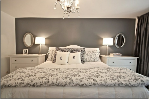 einrichtungsideen schlafzimmer grau. Black Bedroom Furniture Sets. Home Design Ideas
