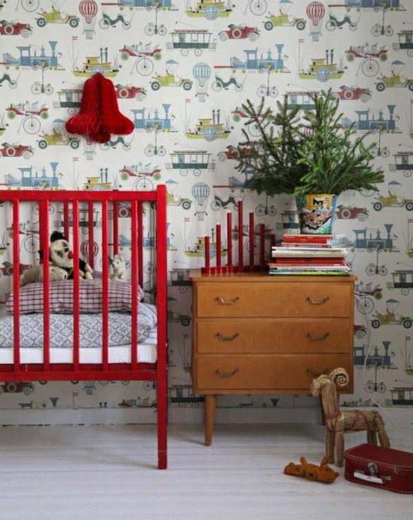 Kinderzimmer Tapeten Beispiele : kinderzimmer-ideen-kinderzimmer-gestalten-wandgestaltung-kinderzimmer