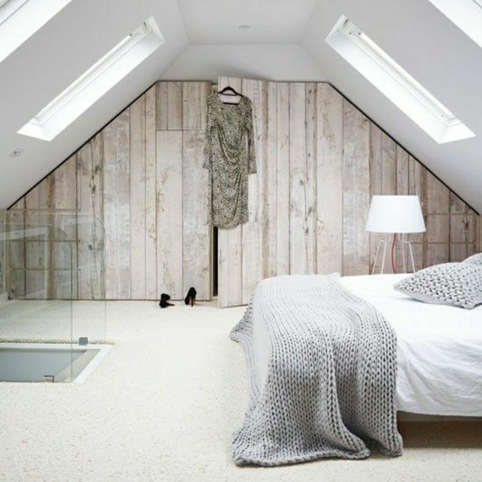 dachgeschoss-wandgestaltung-holz-schöne-wände-wohnzimmer-wandgestaltung