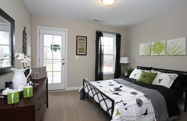 Schlafzimmer braun deko