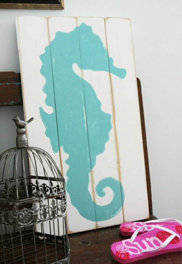 deko-mit-einem-seepferd-ideen-für-dekoration-holzdeko-