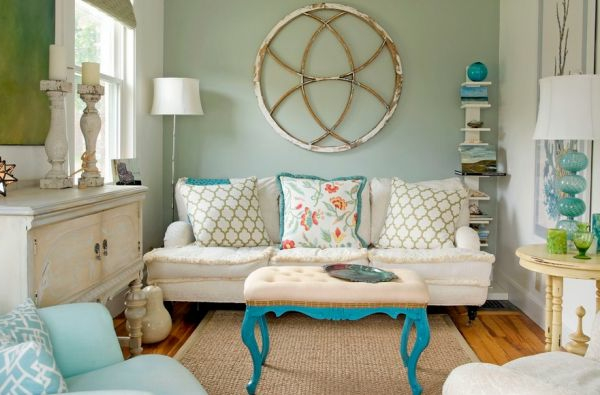 dekoration-in-türkis-farbe-wunderschönes-wohnzimmer-gestalten