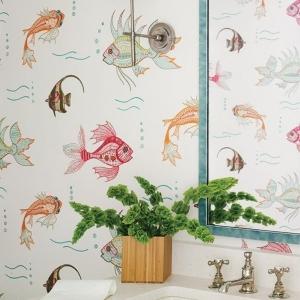 Schöne Tapeten mit Fischen - 21 Vorschläge