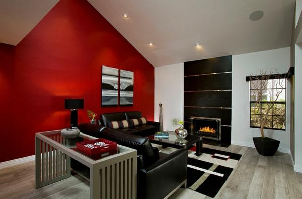 Wohnzimmer Ideen Rote Wand Free Wohnzimmer Ideen Wand Streichen