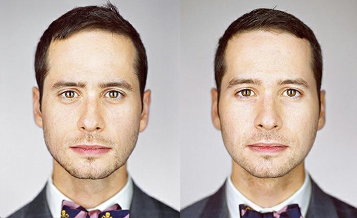 eineiige-zwillinge-zwei-gesichter-von-männern