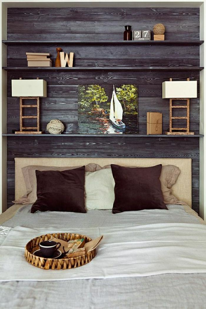 Schlafzimmer ideen wandgestaltung holz  Schlafzimmer Aus Holz Design Ideen Bilder Schlafzimmer Aus Holz ...