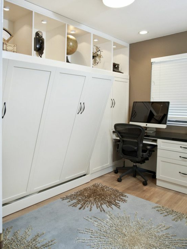 einrichtungsideen-klappbette-schlafzimmer-einrichten-schlafzimmer-gestalten--weißes-bett