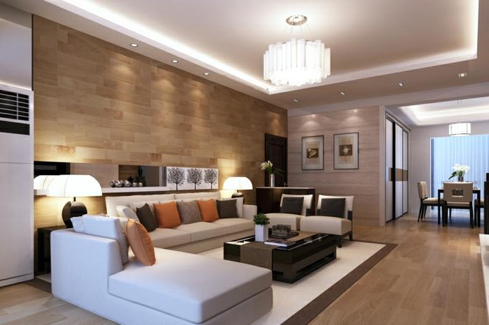 Schön Wohnzimmer Ideen Wandgestaltung Stein