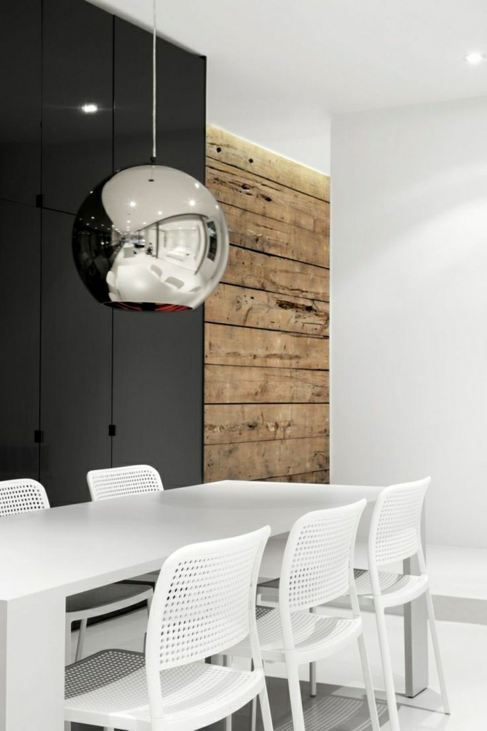esszimmer-wandgestaltung-holz-schöne-wände-wohnzimmer-wandgestaltung Wandverkleidung aus Holz