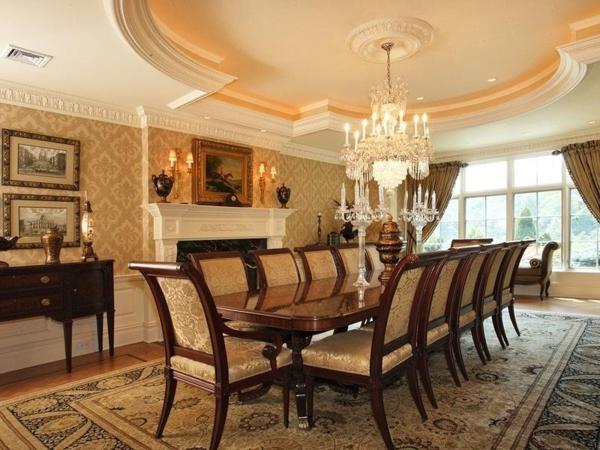 extravagante-wohnideen-für-esszimmer-beige-farbe-sehr-schön