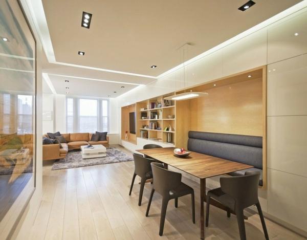 extravagante-wohnideen-für-esszimmer-beige-und-weiße-farbschemen