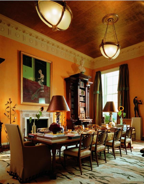 extravagante-wohnideen-für-esszimmer-cooles-aussehen-hohe-zimmerdecke