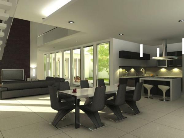 extravagante-wohnideen-für-esszimmer-großer-wohnraum