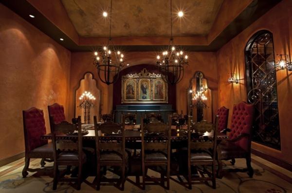 extravagante-wohnideen-für-esszimmer-romantische-beleuchtung