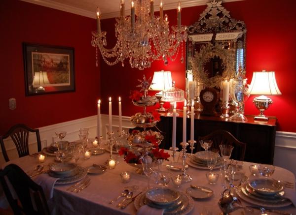 extravagante-wohnideen-für-esszimmer-rote-schöne-farbe