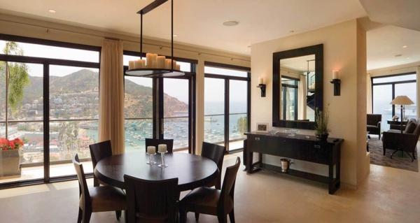 extravagante-wohnideen-für-esszimmer-runder-tisch-schönes-aussehen