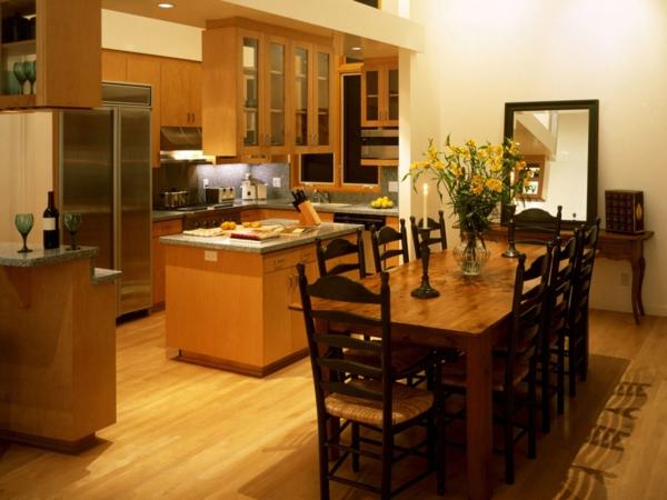 extravagante-wohnideen-für-esszimmer-warme-farbschemen