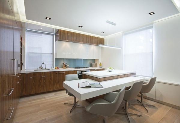 extravagante-wohnideen-für-esszimmer-weißer-tisch
