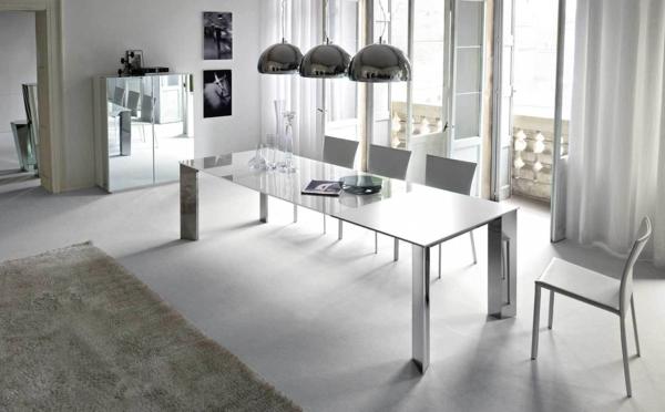 extravagante-wohnideen-für-esszimmer-weißes-schönes-interieur