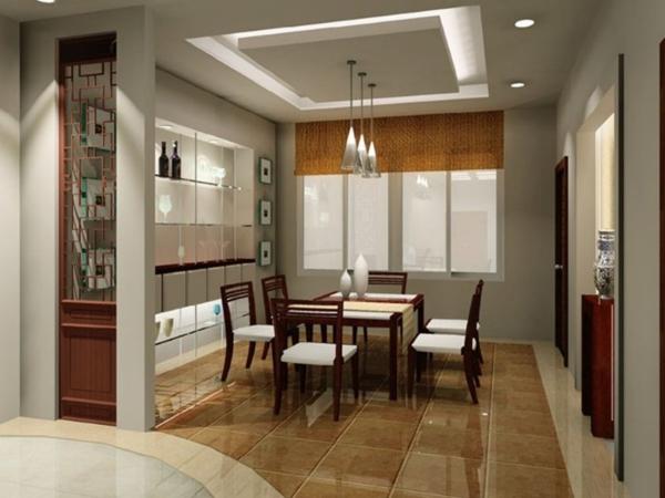 extravagante-wohnideen-für-esszimmer-wunderschönes-aussehen-zimmerdecke-mit-leuchten