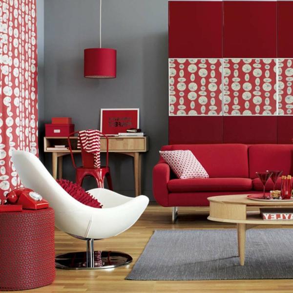 wohnzimmer rote wand: -wohnzimmer-gestalten-wohnzimmer-einrichten-einrichtugsideen