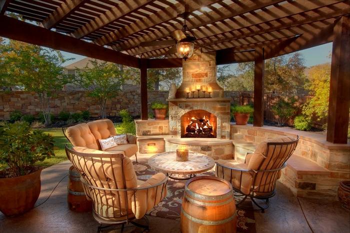 84 verbl ffende fotos von feuerstelle f r terrasse - Beleuchtete kuchenruckwand selber bauen ...