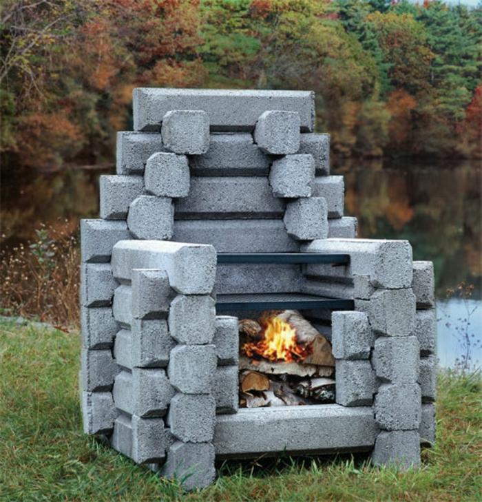 feuerstelle-für-terrasse-grau-und-interessant-aussehen