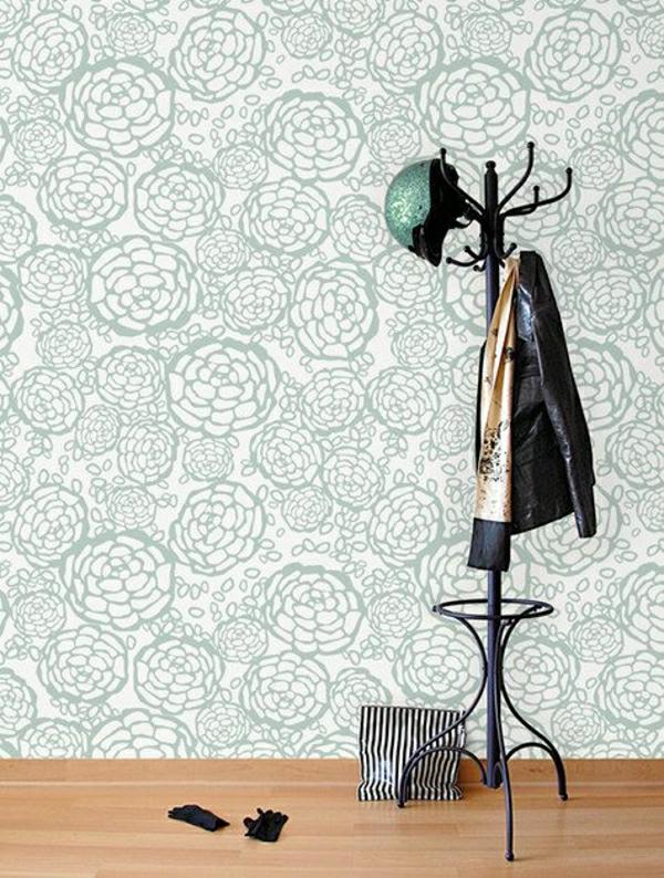 -flur-einrichten-ideen-flur-gestalten-tapeten-Tapeten - Ideen