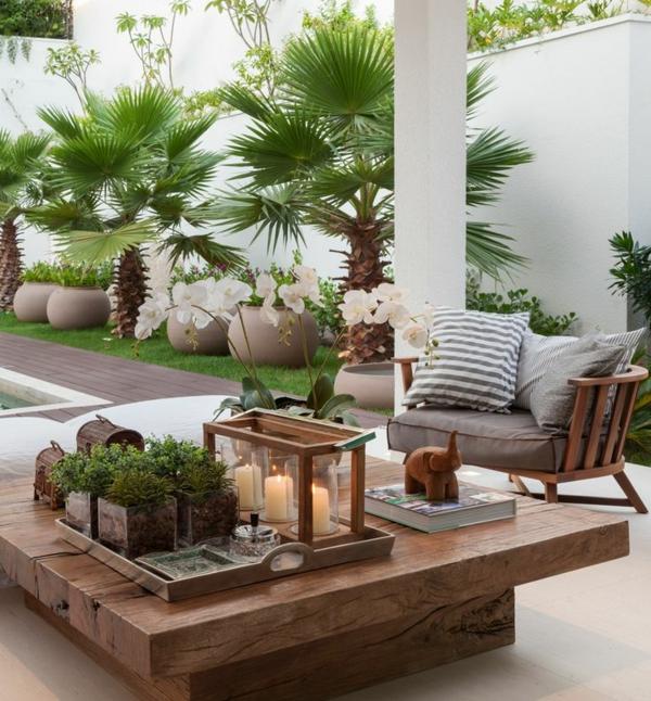 Gartentisch 21 wundersch ne ideen f r den au enbereich - Salon de jardin petite terrasse ...