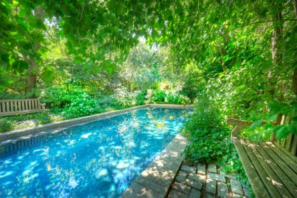 96 verbl ffende fotos vom garten pool