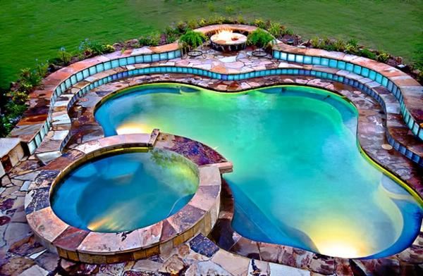 garten-pool-herrliches-design - super farben