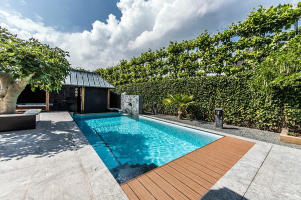 garten-pool-sehr-luxuriös-gestaltet - prima aussehen