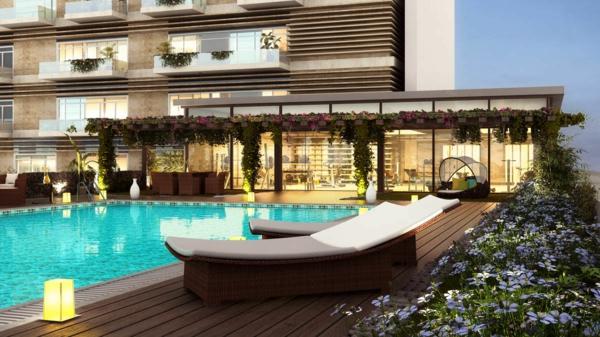 garten-pool-terrasse-gestaltung - ultramodern