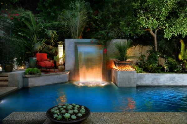 garten-pool-ultramoderne-beleuchtung